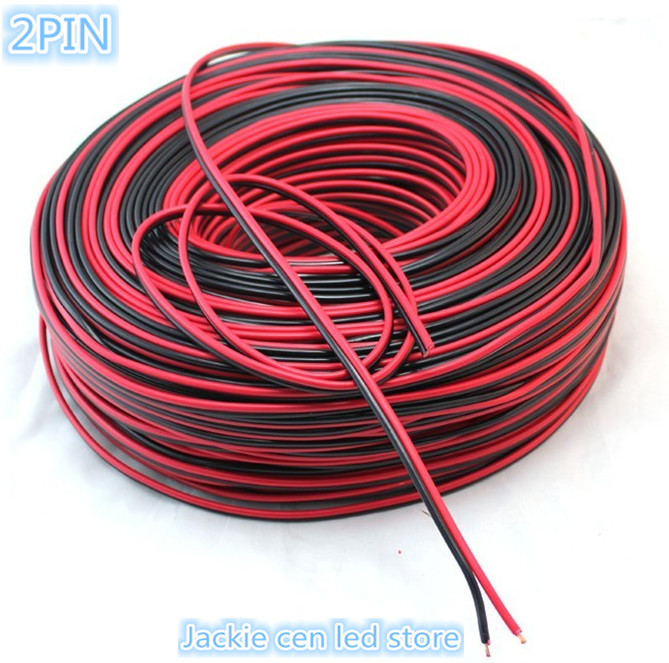 50m Lot 2pins Led Strip Wire Cable Thinned Copper Wire