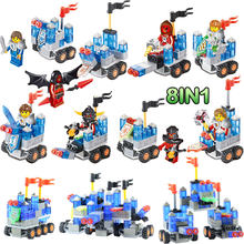 8 in 1 LegoINGlys Elements of the future knights Mechanical mobile fortress diy building Blocks Kit Toys Gifts for children(China)