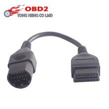 Цена OBD II 17 PIN to 16 PIN OBD2 Соединительный кабель для Mazda 17 PIN автомобильный диагностический инструмент кабель для Mazda 17 PIN