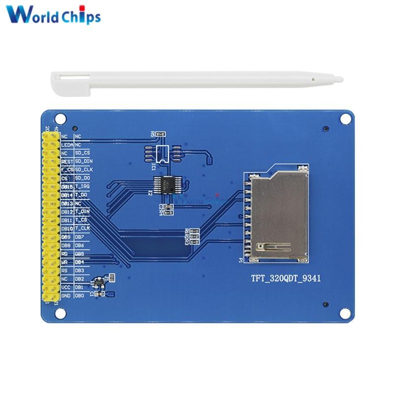 "3,2 /""pollici TFT LCD display modulo Touch Panel /& SD CARD gabbia per Arduino"