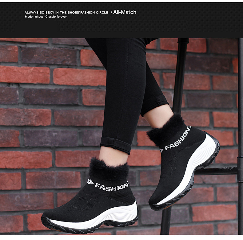 STS BRAND 2019 New Winter Ankle Boots Women Snow Boots Warm Plush Platform Sneakers Breathable Mesh Sneakers Travel Casual Shoes (8)