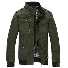 TANGNEST Jaqueta Masculina 2018 Men's New Casual Jacket Multi-pocket Mandarin Collar Men Coat Comfortable Mens Jackets MWJ1771
