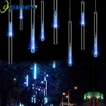 led meteor shower lights 30cm 8 tube falling rain drop icicle snow fall string led waterproof christmas lights for holiday xmas - Dripping Icicle Christmas Lights