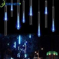 LED Meteorschauer Lichter 30 CM 8 Rohr Fallen Regen Tropfen eiszapfen Schnee Herbst String LED Wasserdicht Weihnachtsbeleuchtung für Urlaub weihnachten