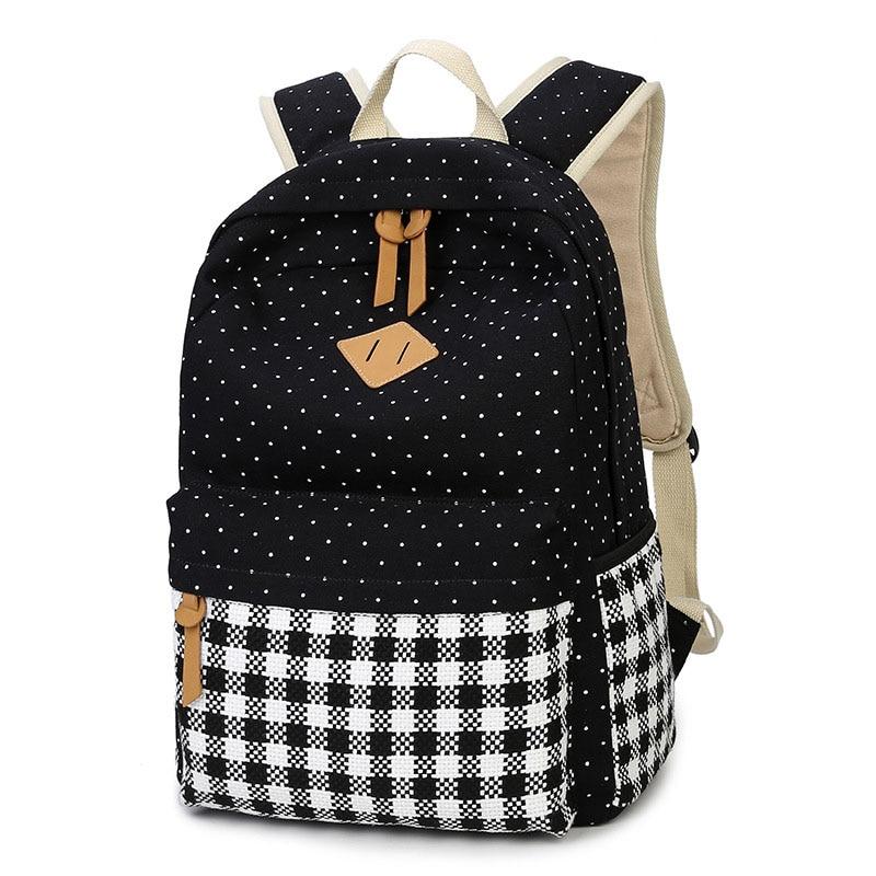 feminine backpack teenage canvas backpacks for teen girls youth fashion backpack mochila. Black Bedroom Furniture Sets. Home Design Ideas