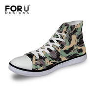 High top Men's Walking Shoes Casual Men Canvas Shoes Fashion Camouflage Footwear for Man Flat Ankle Shoes High Quality