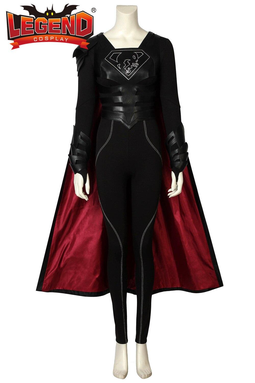 Supergirl Season 3 Samantha Arias Cosplay Costume Superhero Cosplay Supergirl Reign Costume Jumpsuit