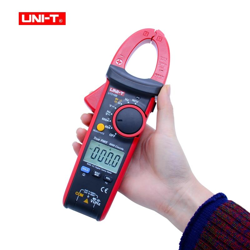 где купить LCD Display 600A True RMS Digital Clamp Meters Auto Range AC/DC/Resistance/Capacitance/ Data Hold Multitester UNI-T UT216B по лучшей цене