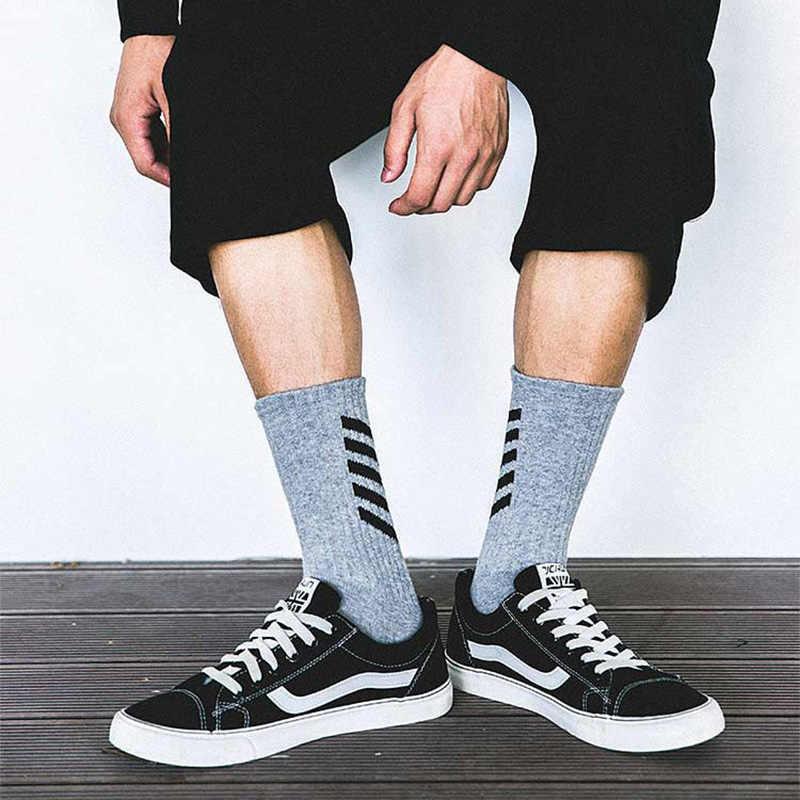 Aelfric Eden Mannen Lange Heren Sokken Katoen Casual Gestreepte Crew Harajuku Comfortabele Sokken Skateboard Sox Unisex Gelukkig Sok Ae022