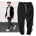 Calças dos homens Hip hop Streetwear Kanye West Temor De Deus Corredores de Rua do Motociclista Da Motocicleta Calças Justin Bieber Calça Jeans Preta 36