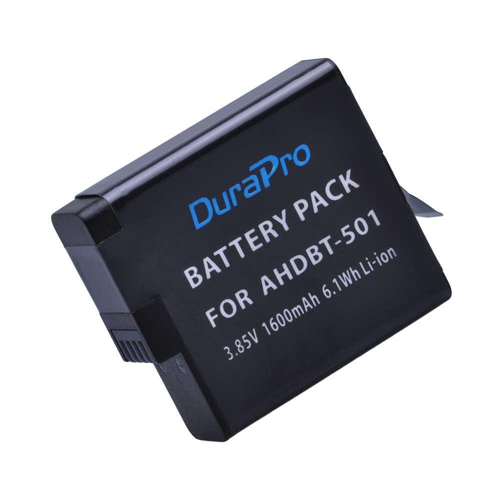 3 قطعة AHDBT-501 كاميرا حزمة بطارية ل Gopro 5/6 Gopro بطل 5/6 + LCD USB شاحن مزدوج ل Gopro بطل 5/Hero5/6 الذهاب برو كاميرا