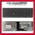 Original nuevo LA américa teclado con marco con retroiluminado y punto de palo para HP 8560 w 8570 w series 9Z. N6GBF. J1E