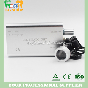Image 5 - D  loupes  magnifying glasses dental and surgical loupes with head light packed in aluminium box