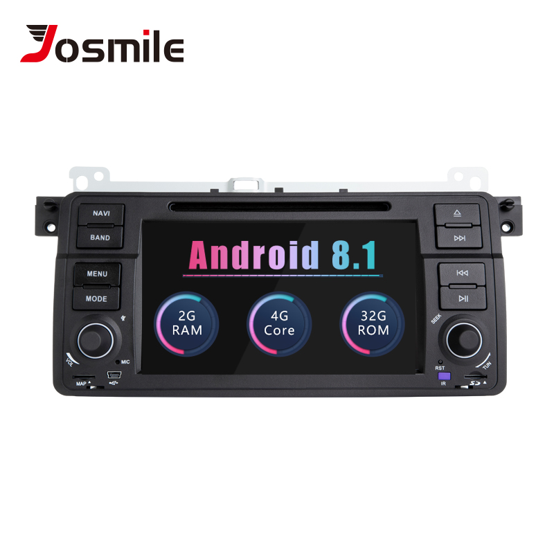 Josmile 1 Din Android 8.1 GPS Navigation For BMW E46 M3 Rover 75 Coupe 318/320/325/330/335 Car Radio Car DVD Player Stereo Wifi