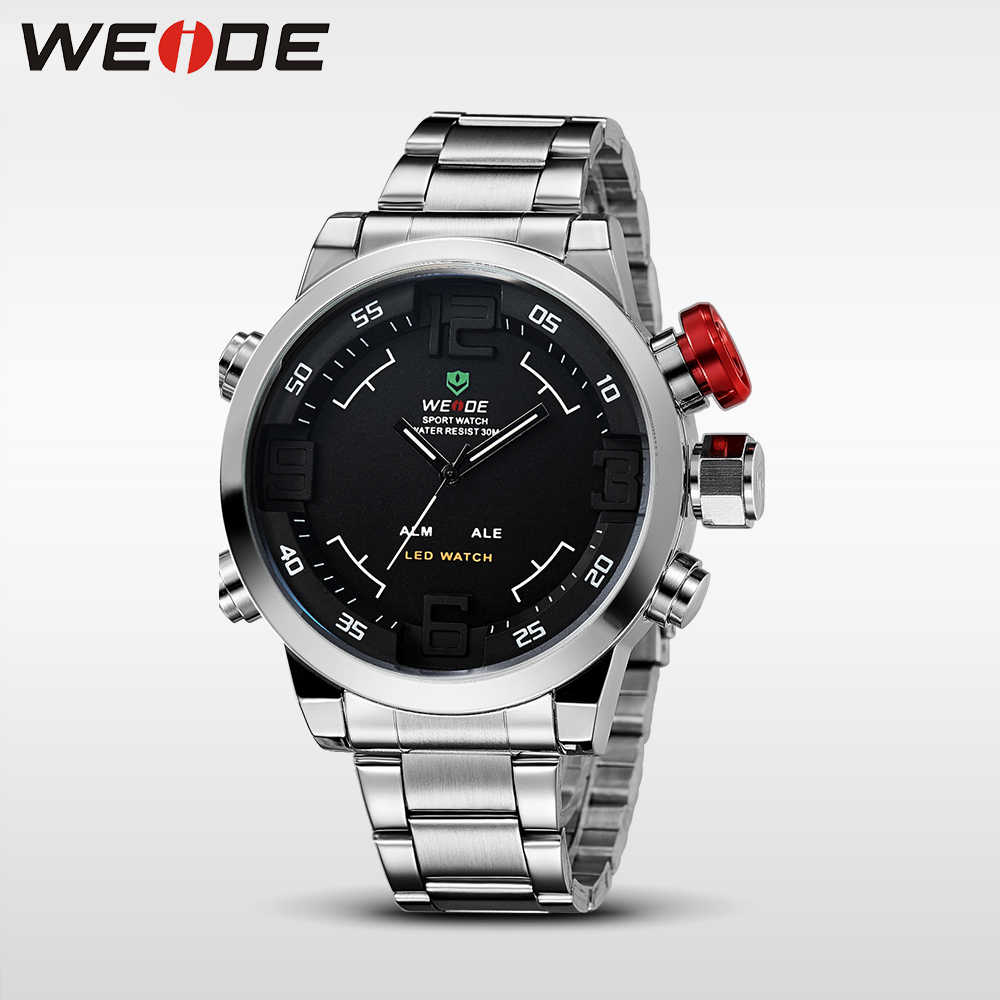 bd659a0bf90 ... WEIDE Watches Men Top Brand Fashion Watch Quartz Stainless Steel Band  Male Clock relogio masculino Army ...