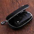 Leather Car Key protective Fob Cover Fits ForFord Mondeo Explorer Edge Kuga Focus keychain Key Rings case wallet accessories
