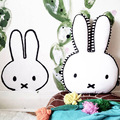 Super Cute Kids Pillows Large Plush Rabbit Toy Kids Sleeping Back Cushion Rabbit Doll Baby Cama Sleep Doll Bedroom Bedding Decor