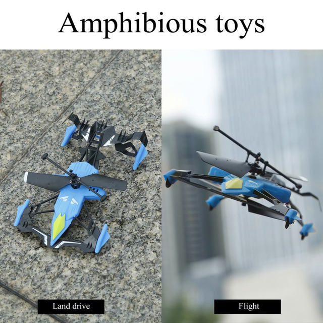 Quadcopter Car Toys with Remote Control 2 in 1 Air-Ground Flying Car RC Drone Quadcopter 3D Flip Children Toys Bithday Gift