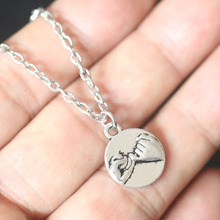 Pinky Promise Pendant Chain Necklace For Women Christmas Gifts Vintage Silver Charms BBF Best Friends Choker Collier Bijoux new