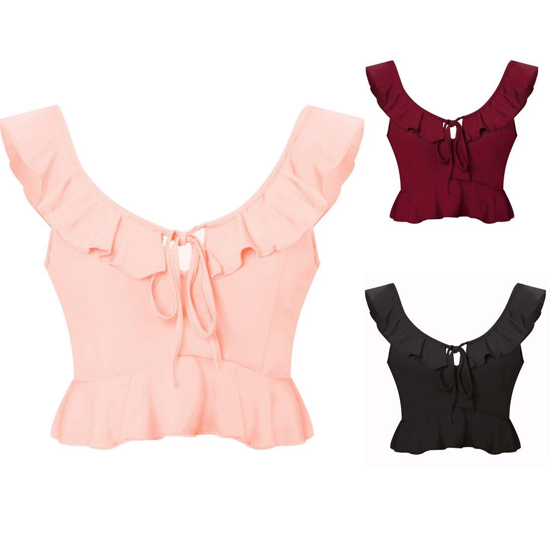 Mini Tops Boho-Crop-Top T-Shirt Backless Fashion Summer Women Sleeveless Sexy Casual