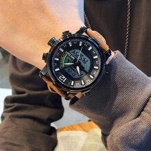 Мужские наручные часы MEGIR, спортивные аналоговые кварцевые часы с хронографом, цифровые часы, 2020
