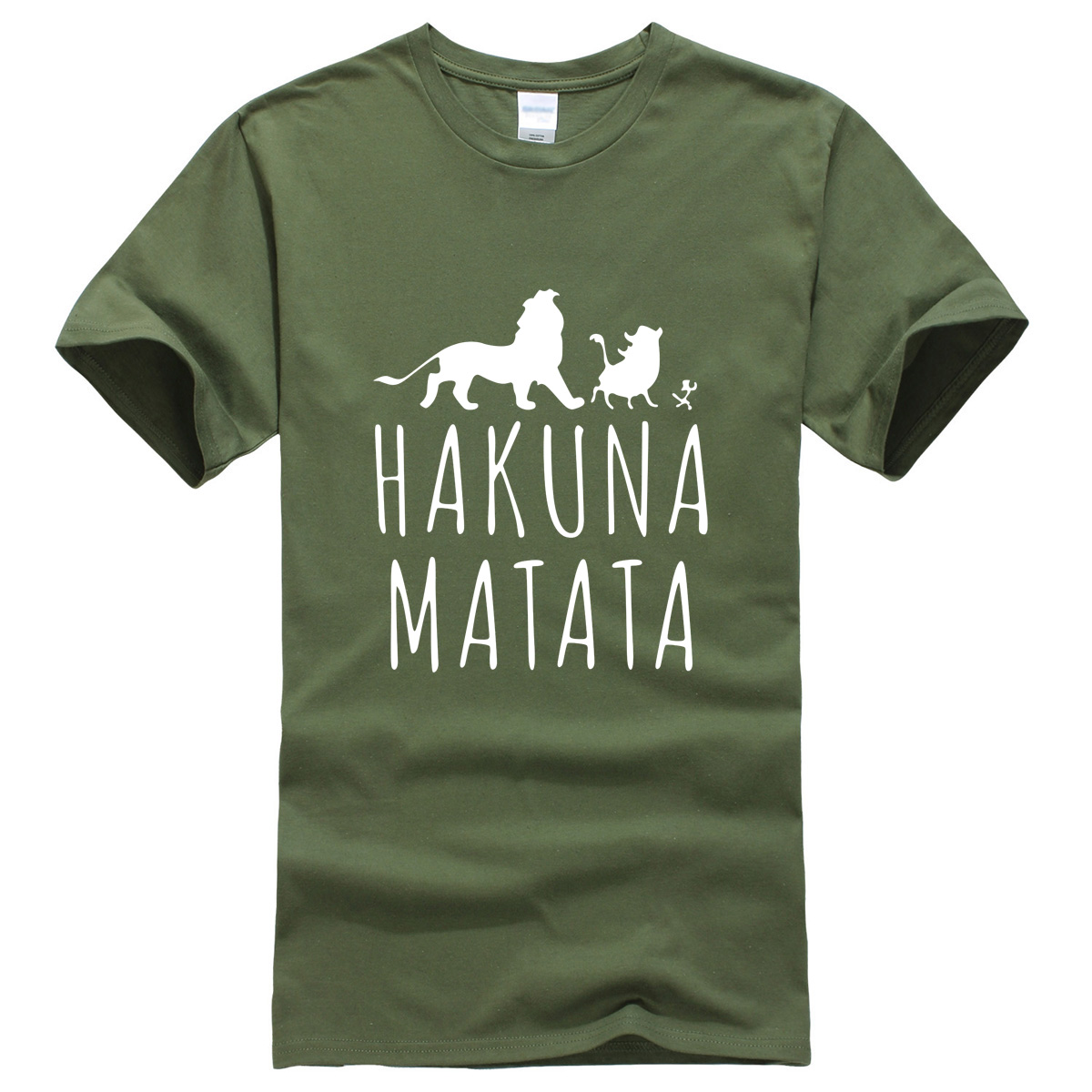 Men's T-shirts 2019 Summer Cotton O-neck Fashion Casual Tshirt HAKUNA MATATA Hipster Streetwear Brand-clothing T-shirt Men Tops