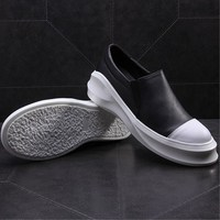 Women Shoes Flat 100% Authentic Leather Plain Toe Up Ladies Shoes Flats Woman Moccasins Female Footwear Flat Platform