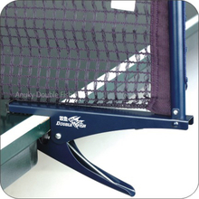 Double Fish Tong-Type Steel Table Tennis Net Post set with net Ping pong Table Net Supporter Post for recreation competition