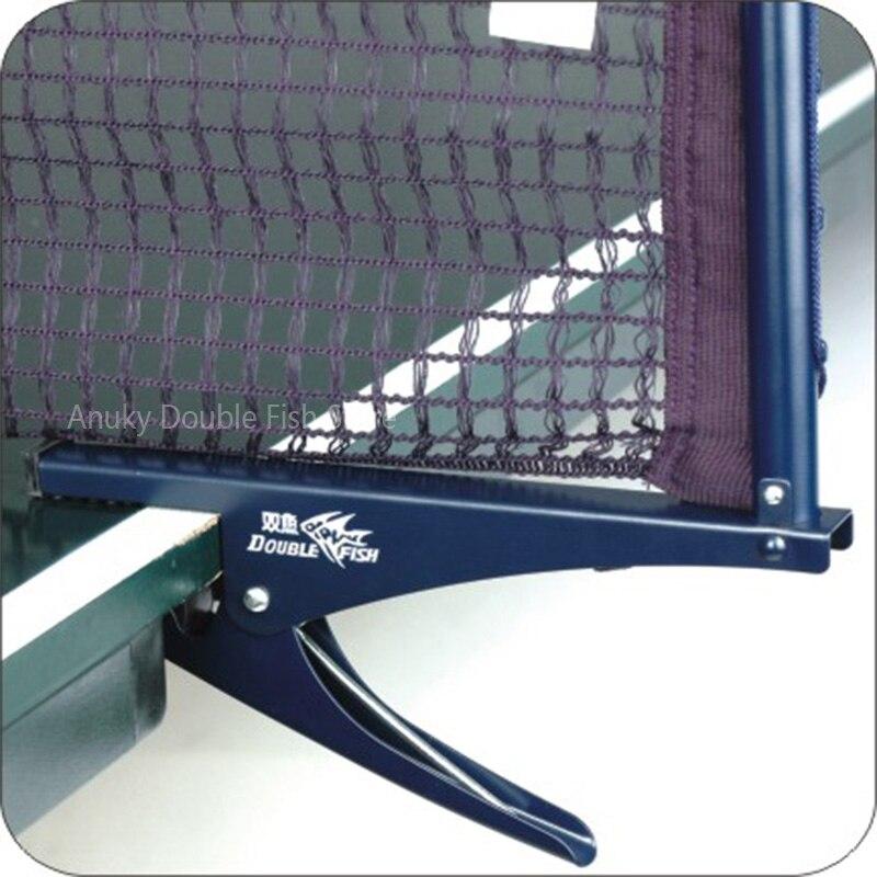 Poteau de filet de Tennis de Table en acier à Double pince à poisson avec filet de Ping-pong