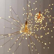 Форма цветка Праздничная гирлянда украшения дома батарея коробка огни Строка свет