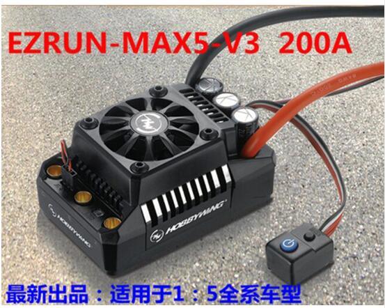 Hobbywing EzRun Max6 V3/Max5 V3/MAX10 SCT 160A/200A/120A régulateur de vitesse étanche sans brosse ESC pour voiture 1/6 1/5 RC - 4
