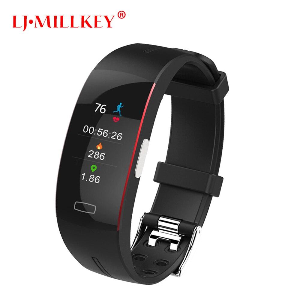 Bracelet intelligent Ecg + Ppg mesure dynamique moniteur de fréquence cardiaque Usb Charge Fitness Tracker écran couleur bracelet de montre intelligent