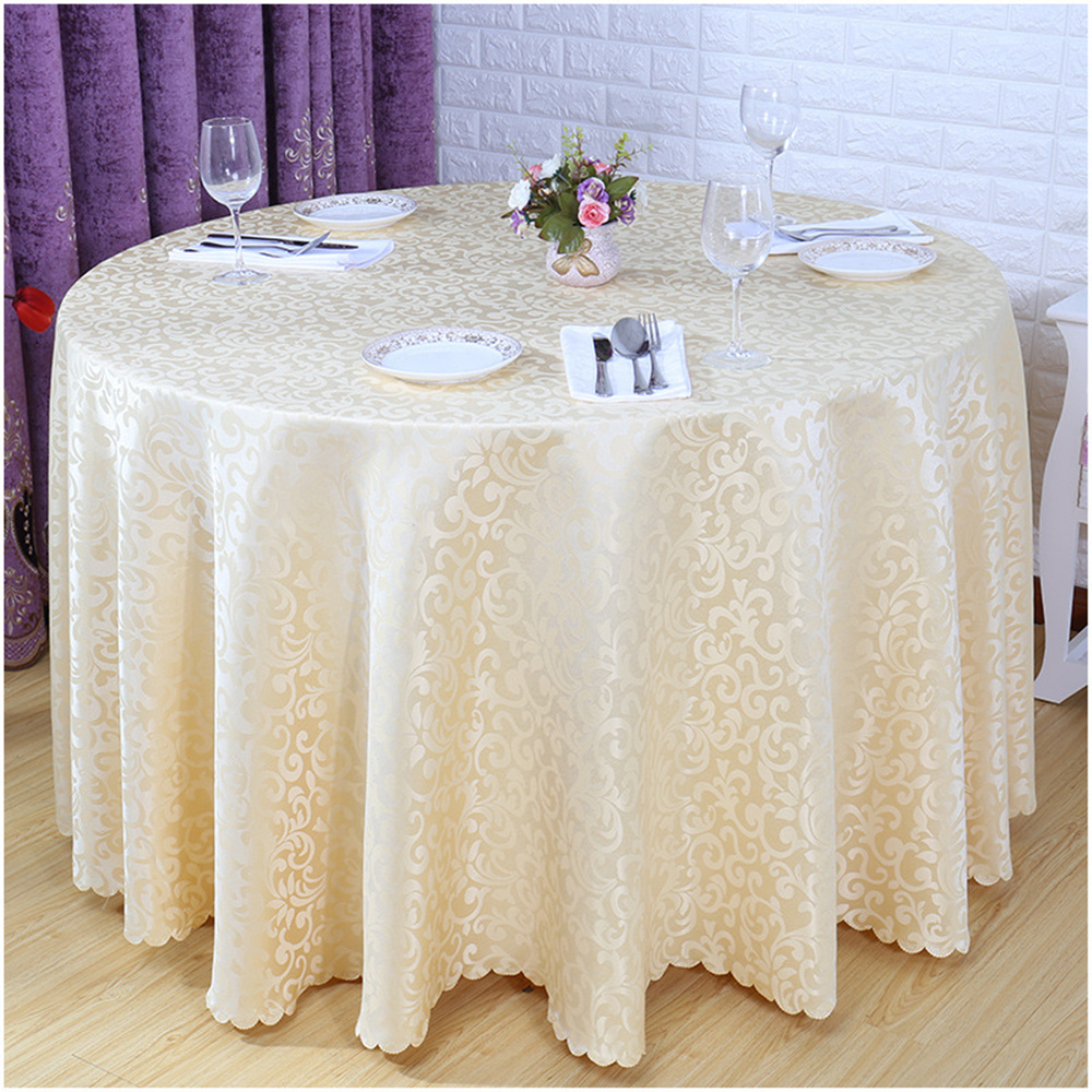 2017 Hot Sale Europe Table Cloth Round Solid Home Hotel Decoration Hotel Home Restaurant Table Cover Wedding Party