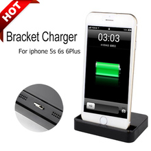 Portable Desktop Data Sync USB Cradle Dock Charger Charging Station For iPhone 5 / 5S 5c