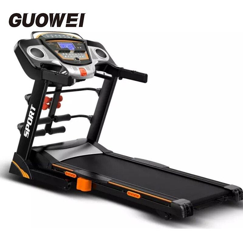 Ménage tapis roulant électrique Portable de Course Formation machine de fitness noir Tapis Roulant Usage Domestique corps matériel de musculatation