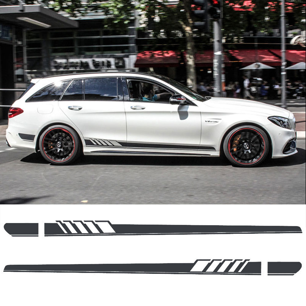 Matte Black Edition 1 Style Stripe Sticker for Mercedes Benz S205 C Class Estate AMG auto fuel filter 163 477 0201 163 477 0701 for mercedes benz