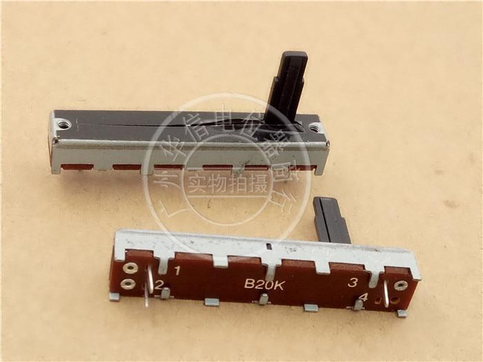 3 шт. 45 мм прямой скользящий потенциометр B20K SL3042N с середины ручки 15 мм/фейдер Одиночная связь моно B203