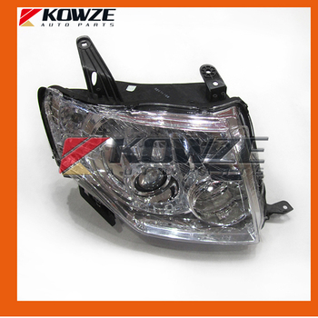 2PCS Left &  Right Side Head Lamp Light Headlamp HID For PAJERO MONTERO IV 4th 2006-2016 LHD 8301B531 8301C182