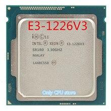 Frete grátis intel E3-1226V3 3.30 ghz quad-core 8 mb smartcache E3-1226 v3 hd gráficos p4600 ddr3 ddr3l 1600 fclga1150 tpd