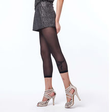 Women s Ultra thin Nine Points Pantyhose Woman Pattern Jacquard Core spun Silk Tights Stocking