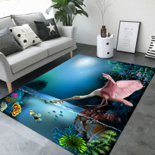 Bedside Carpet RectangleMat Marine Animal chenille Linen Woven Floor MATS Can Be Machined Wash kitchen room living
