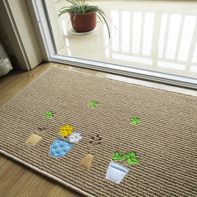 60cm*90cm Designer Little Flower Door Mat,Cute Cartoon Carpet Children  Bedroom,Elegant