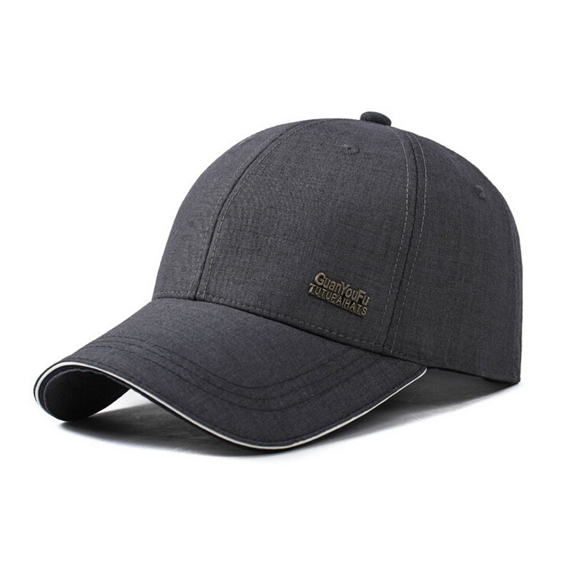 0d4442abcc3 Brand 2018 Spring autumn men s baseball cap male bone snapback caps hats  Sunscreen gorras hombre dad hat drake grey solid color-in Baseball Caps  from ...
