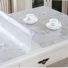 BALLE PVC Tablecloth Transparent Rectangle Table Cover Protector Desk Pad Soft Glass Dining Top Table Cloth Plastic Mat