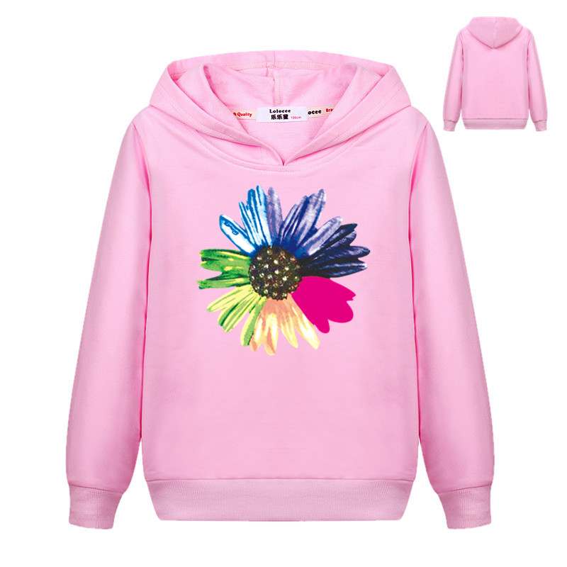 2019 Frühling Herbst Sportswear Harajuku Rosa Kawaii Bunte Blume Print Sweatshirt Marke Neue Kleidung Nette Trainingsanzug