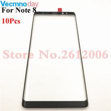 10Pcs Front Outer Screen Glass Lens Replacement For Samsung Galaxy Note 8 N950F Front Screen LCD Glass Lens For Samsung Note8