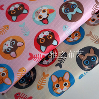 Chemical Fiber Fabrics Waterproof Oxford Cloth For Patchwork Cartoon Cat PVC DIY Sewing Curtain Tablecloth Bag