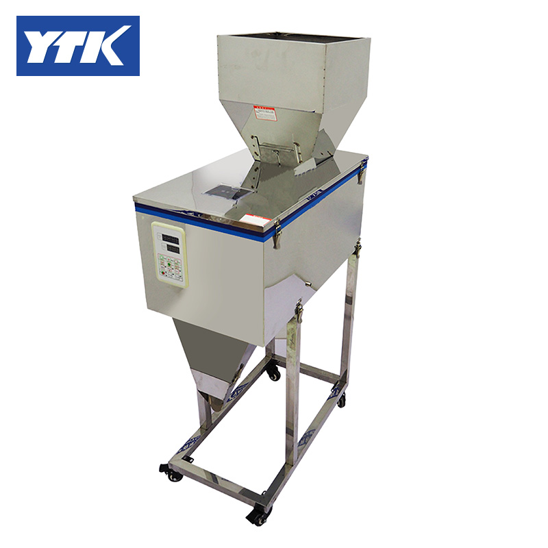 YTK 25-1200g Weighing And Filling Machine Dry Powder Filling Machine For Particle Or Bean Or Seed Or Tea  Grind