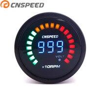 CNSPEED Auto Tachometer 2 52mm Tachometer 12v Digital Smoker 200~10000rpm Tachometer LED Car Tachometer YC101278