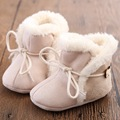 Hot Sale New Winter Soft Sole Baby Cotton Plush Warmer Boots Girls Boys Lace-Up First Walkers Newborn Moccasins Infant Shoes